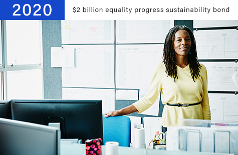 2020 $2 billion equality progress sustainability bond