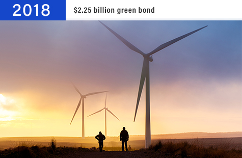 2018 $2.25 billion green bond