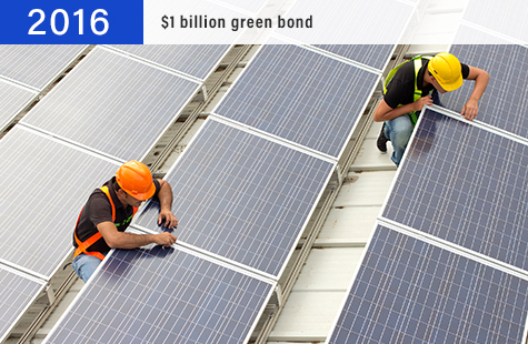 2016 $1 billion green bond