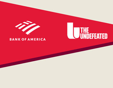 Bank of America logo, the Undefeated