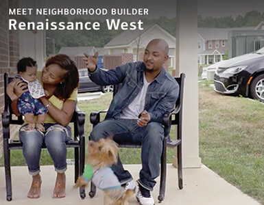 Meet Neighborhood Builder Renaissance West family with dog