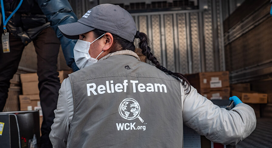 Member of the wck relief team