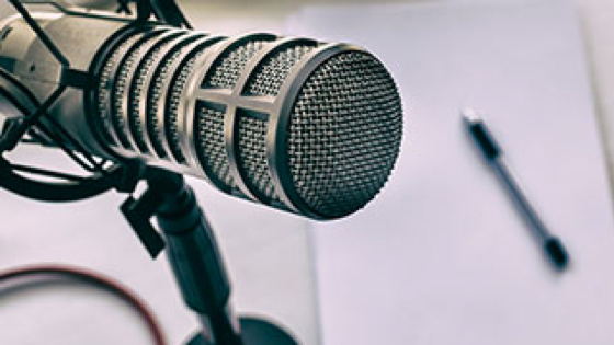 Podcast microphone image